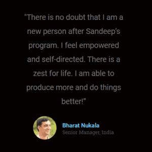 sandeep nath testimonial